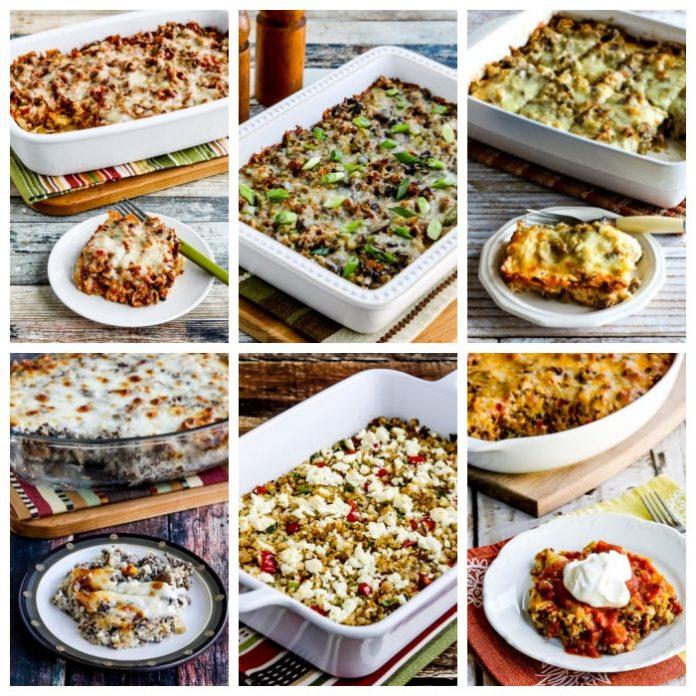 Casseroles à faible teneur en glucides et céto avec riz au chou-fleur - Kalyn's Kitchen